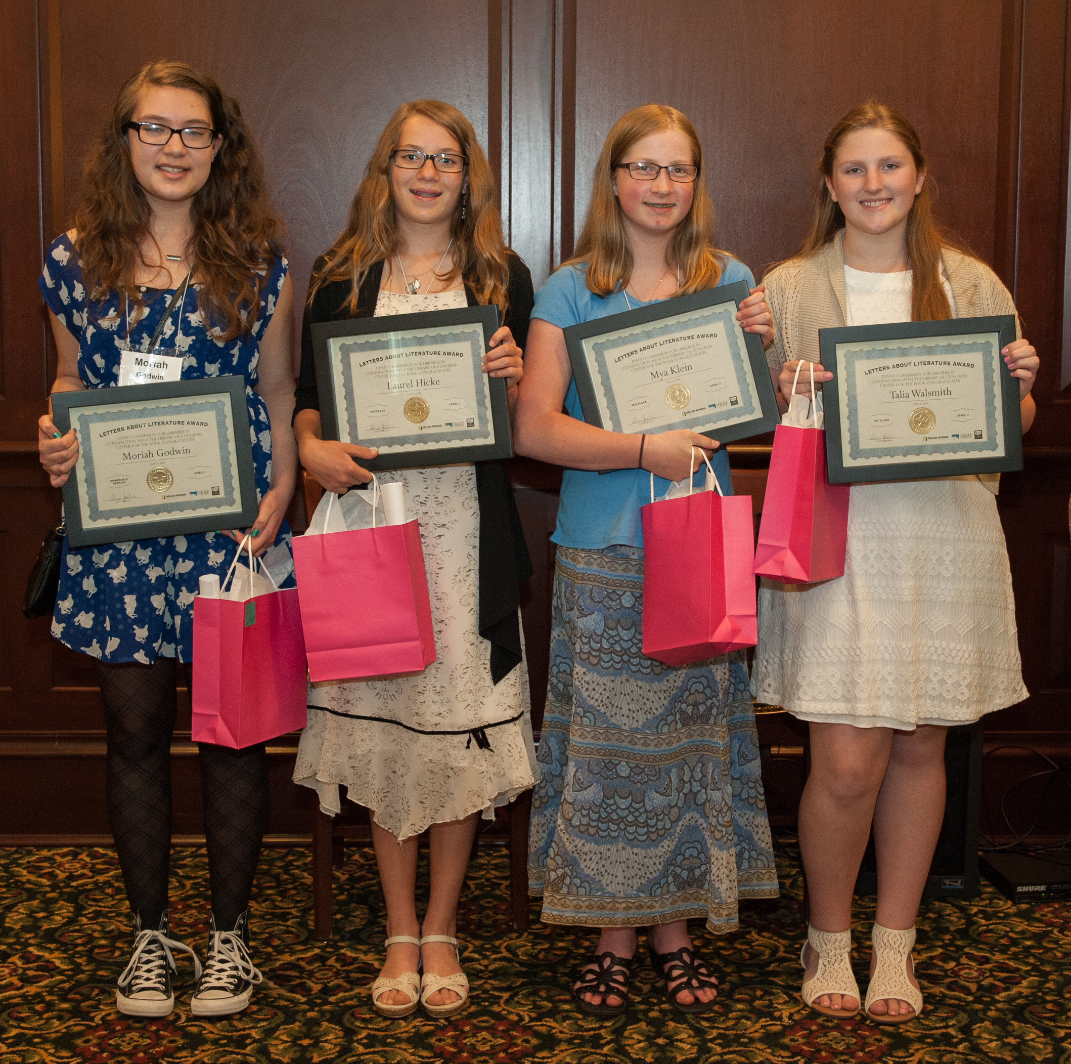 photo of Moriah Godwin, Laurel Hicke, Mya Klein, Talia Walsmith