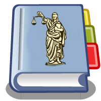Blue Book with the Lady Justice on the cover